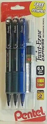 Twist Erase Express Automatic Pencil With Lead And Eraser 0.5mm - 3 Ct Pentel