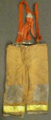 40x26 Janesville Tan Firefighter Pants W Suspenders Turnout Gear P034