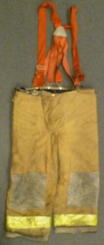 40x26 Janesville Tan Firefighter Pants w/ Suspenders Turnout Gear P034