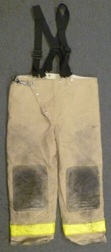 44x30 Globe Firefighter Pants With Suspenders Turnout Bunker Fire Gear P954