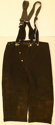 40x24 Black Pants W Suspenders Firefighter Turnout Bunker Fire Gear Globe P864