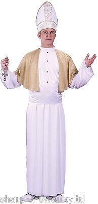 Herren weiß pontifex pope Religiöse Pfarrer and Tarts Kostüm Kleid Outfit
