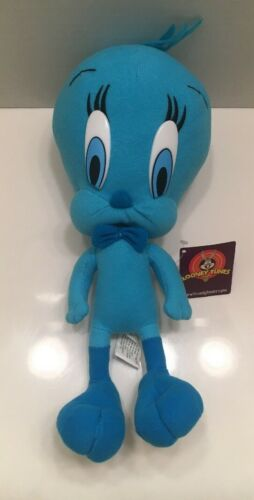 """Blue Tweety Bird 9"""" plush Looney Tunes Warner Bros NEW w/Tags"""