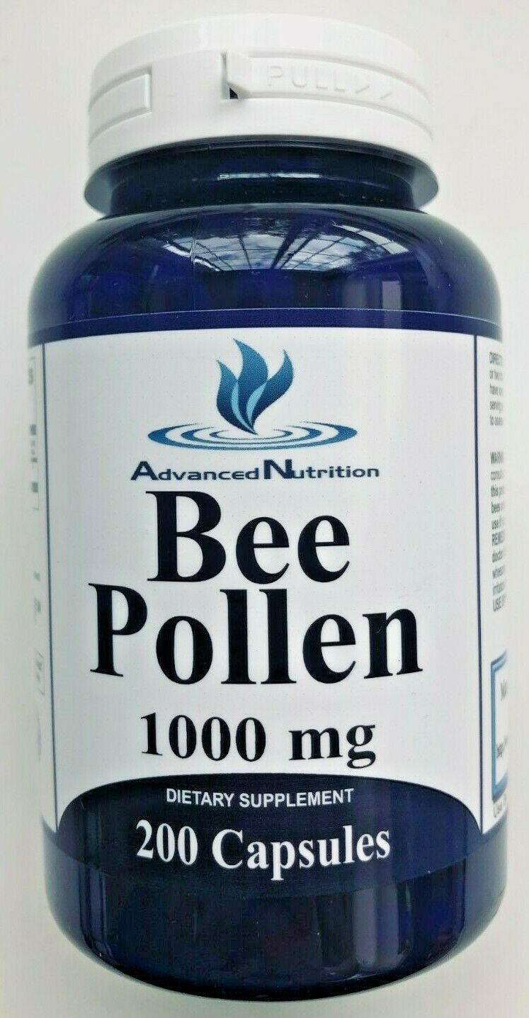 Bee Pollen 1000mg 200 Capsules High Quality Fresh Immune Booster USA Gluten Free