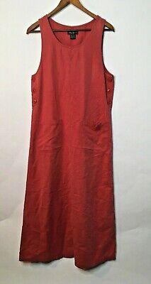 Eddie Bauer Small 4 6 Sleeveless Dress Pink - Red Bauer Kleid