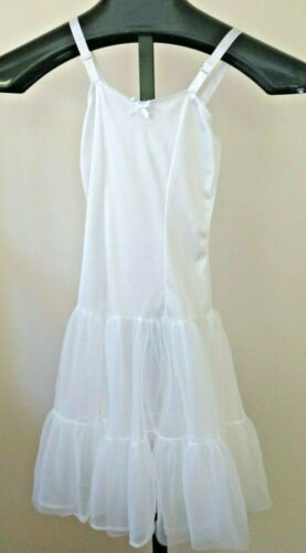 Pre-Owned Girls Size 8 Full Nylon Slip Adjustable Straps Ruffles U.S.A Party