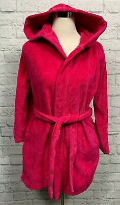 LACOSTE Womens Pink Terrycloth Belted Robe