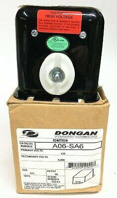 Dongan A06-sa6 Ignition Transformer Primary 120v Secondary 6000v 175va