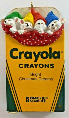 Vintage 1987 Hallmark Crayola Crayons BRIGHT CHRISTMAS DREAMS Ornament