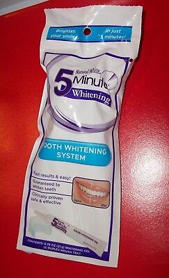 Natural White 5 minute tooth whitening system - .75 oz. Gel tube + duo tray NIP