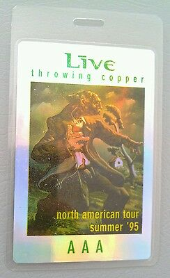 1995 LIVE LAMINATED BACKSTAGE PASS REFRACTOR THROWING COPPER AAA