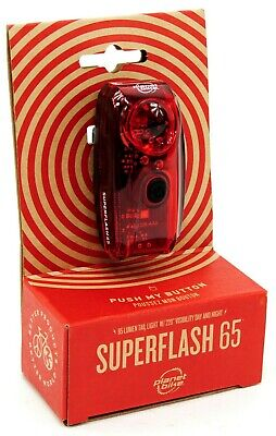 Planet Bike Super Flash Stealth Light-Clear//Red-Rear-W//Bat-LED-New