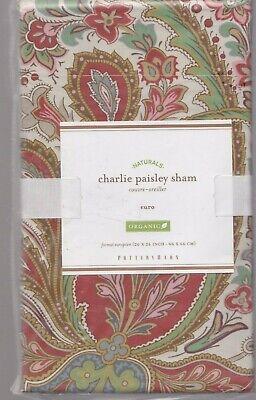 set 2 pottery barn Charlie Paisley Red Euro shams organic cotton