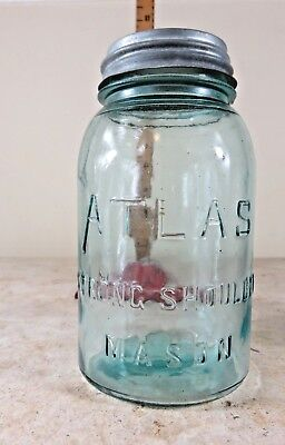 Light Blue Mason Jar Atlas Strong Shoulder Mason Fruit - Light Blue Mason Jars