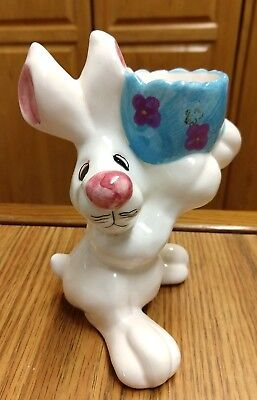 Vintage Cute Ceramic Easter Bunny Rabbit, Candy Holder, Home - Homemade Easter Candy