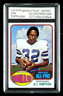 Oj Simpson   1976 Topps Football Progressive Proof Test Set Of 10 Cards O J