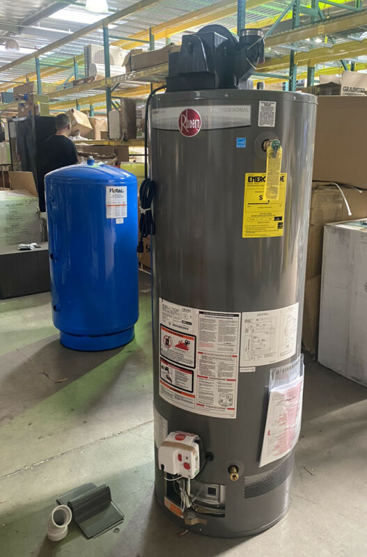 RHEEM Residential Gas Water Heater 50 gal NG 42,000 BtuH PROG50-42N RH67 PV