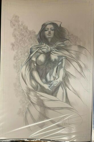 SEXY GHOST FROM DARK HORSE SIGNED ORIGINAL ART 11 x 17 #oa-1104