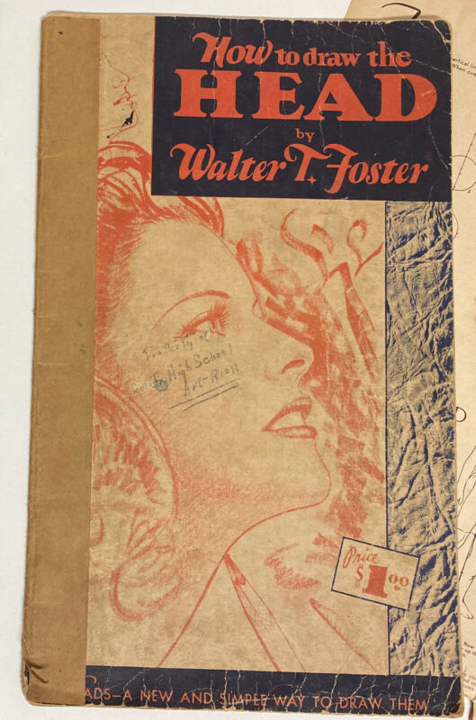 Vintage How to Draw the Head Art Instruction Book by Walter T. Foster + Extras