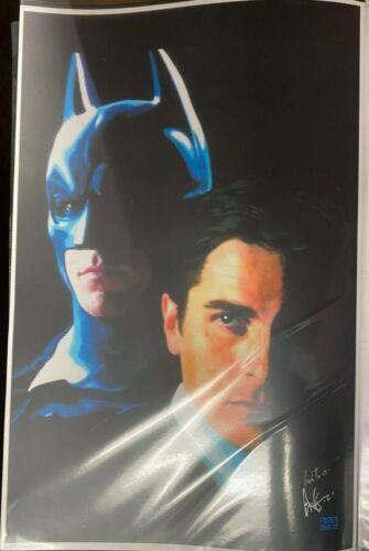 BATMAN THE MOVIE ROB GRANITO SIGNED PRINT 11 x 17 #oa-967