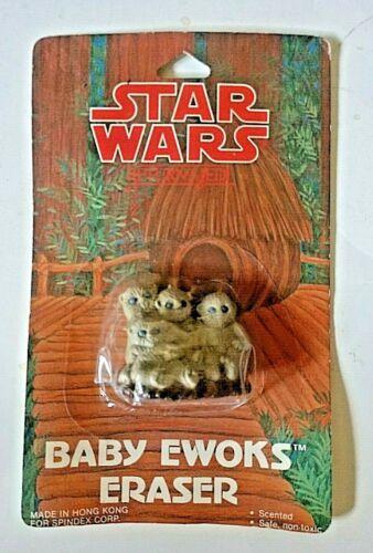 VINTAGE STAR WARS RETURN OF THE JEDI BABY EWOKS ERASER NIP 1983 SPINDEX CORP