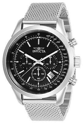 Invicta 24208 Men's Speedway Black Dial Mesh Bracelet Chronograph Watch Black Mesh Bracelet Watch