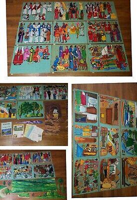 RARE Vintage Set Betty Lukens The Bible in Felt 156 Lessons Large Figs Lot Jesus Jesus Felt Set