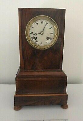 Handsome 19th century clock, library clock or mantel clock