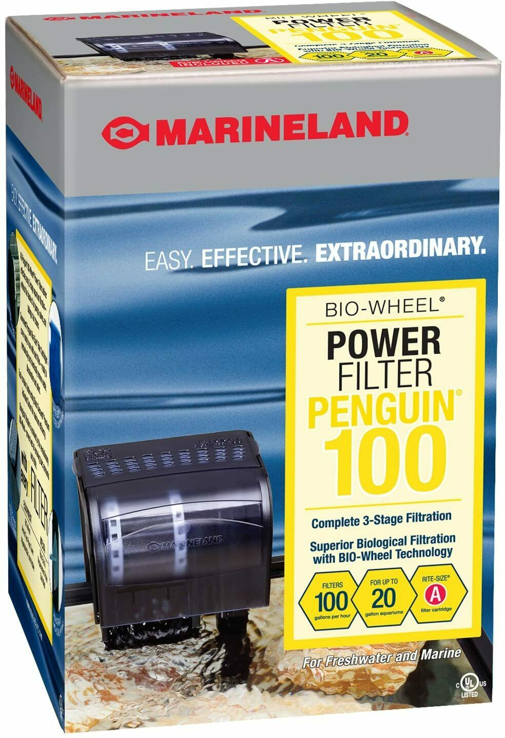 Penguin 100 Bio-Wheel Power Filter - Up to 20 gal.