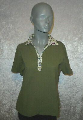 Mayfair London Shirt grün Kurzarm Polokragen Länge 60 cm Größe S Topzustand