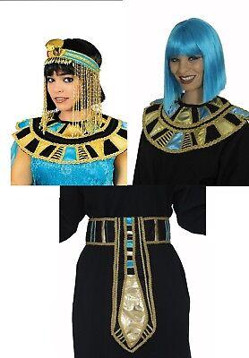 Gürtel Kragen Kopfschmuck für Kostüm Cleopatra Nofretete Ägypterin Königin