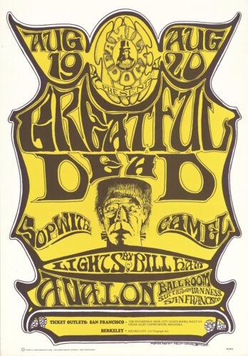 """Greatful"" Dead Oxford Circle 1966 FD 22 FRANKENSTEIN Family Dog Avalon Poster"