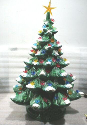 "VINTAGE CERAMIC CHRISTMAS TREE ATLANTIC MOLD 18.5"" h x 14"" w"