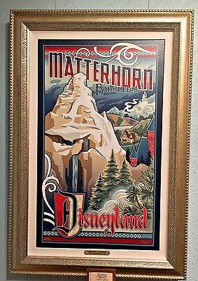 Disneyland Resort Matterhorn Bobsled LE Giclee on Canvas Jeff Granito New