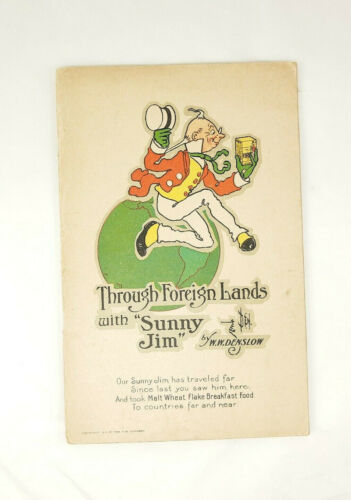 Through Foreign Lands with Sunny Jim: antique advertising book W. W. Denslow art