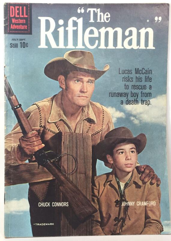 1960 Dell Comics The Rifleman #4 Chuck Conners Lucas McCain Western TV NICE