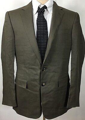 Ralph Lauren Black Label Suit Jacket Sport Coat Mens 38 R Green Linen New