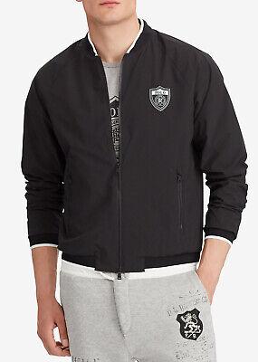 New Polo Ralph Lauren Performance Full Zip P-Wing Regatta Black Bomber Jacket XL