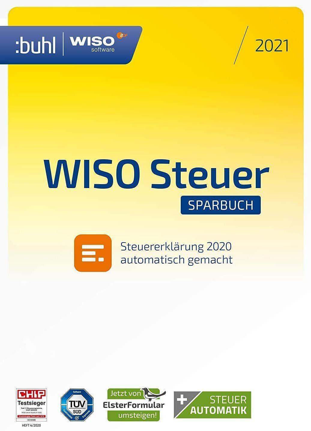WISO steuer:Sparbuch 2021 - für Steuerjahr 2020 - CD-ROM - frustfreie Verpackung