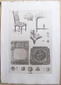 DOCUMENTS-DECORATIFS-par-A-MUCHA-1902-Planche-71-ART-NOUVEAU-Originale-RARA