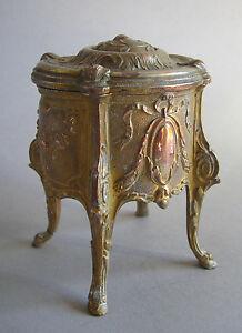 Schmuckschatulle Kommode Louis XVI Bronze trinket box Jugendstil
