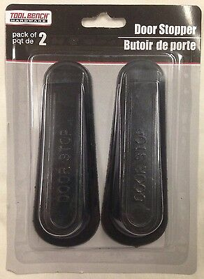 Brand New RUBBER DOOR STOP 4 Inch Black DOOR WEDGE STOPPER - 2 In Package