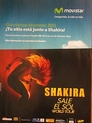 Shakira, Full Page World Tour Ad, Foreign Magazine