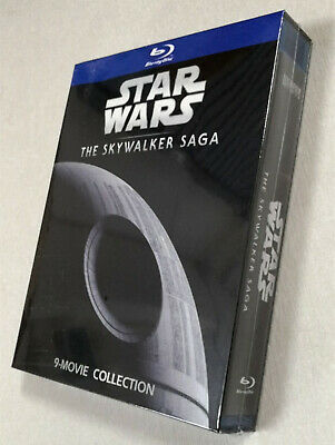Star Wars The Skywalker Saga Collection 1-9 (Blu-ray, 9-Disc) Fast shipping