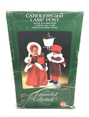 Animated Carolers Dolls Lamp Post Illuminated Candle & Lamp Christmas Decoration