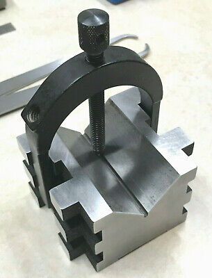 """10/"""" Steel V-Block Matched Pairs--Accurately ground--new"""