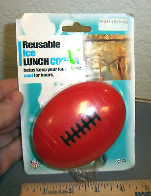 Reusable Ice Lunch Cooler, football shaped ice pack, helps keep food cool ](Football Shaped Food)