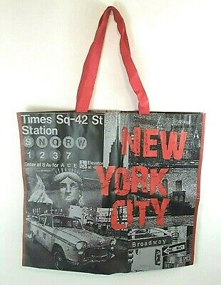 Marshalls Large New York City Reusable Grocery Shopping Bag Times Square 42 St