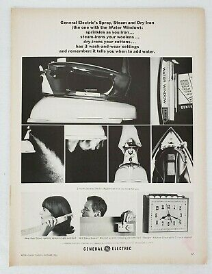 General Electric GE Steam Iron Vintage Magazine Print Ad 1963 Better