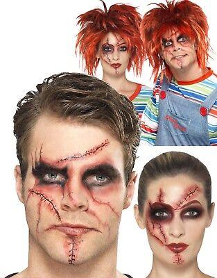 Chucky Make Up Kit Evil Kinder Halloween Kostüm Horror Zubehör Neu